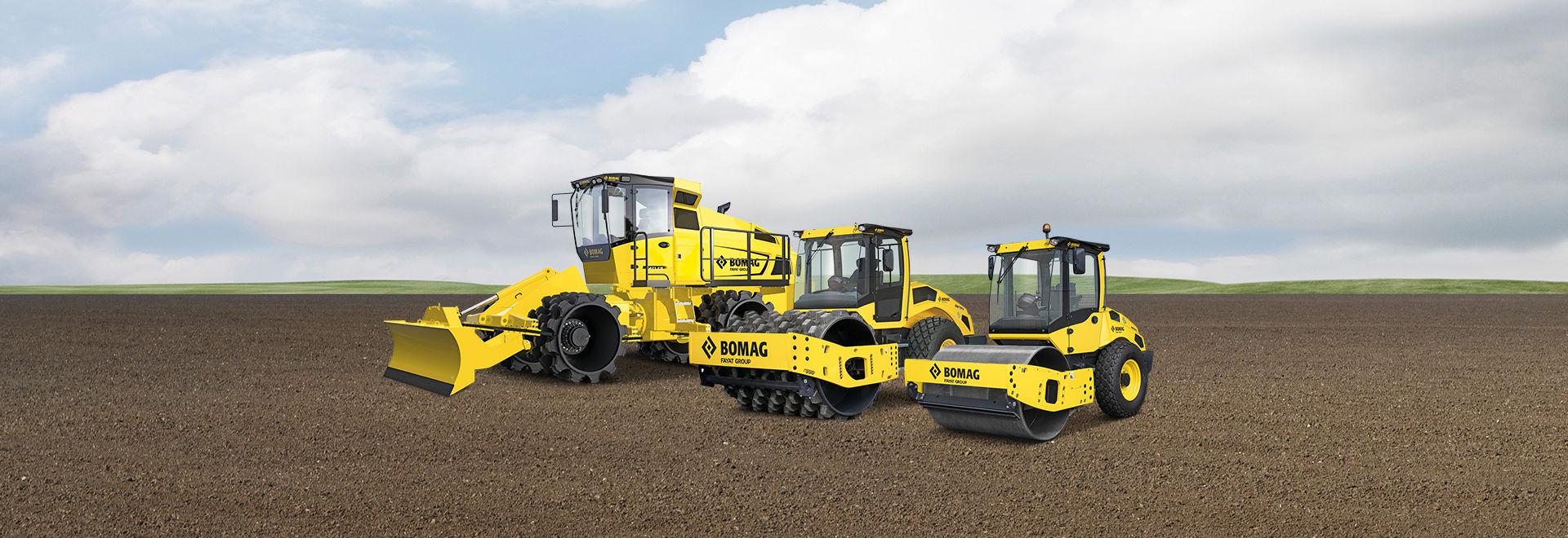 Walce do robót ziemnych i maszyny do zagęszczania w pracach ziemnych